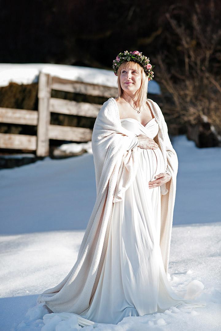 Babybauch Winter Kathleen Pfennig