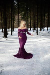 Babybauchshooting im Winter in Sachsen